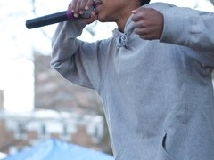 Earl Sweatshirt performs in Walnut Park.